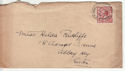 1912-24 King George V 1½d used on envelope (55849)