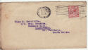 1912-24 King George V 1½d used on envelope (55850)