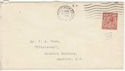 1912-24 King George V 1½d used on envelope (55857)