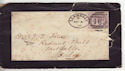 1888 QV 1d Lilac on Mourning Envelope (55862)