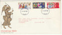 1969-11-26 Christmas Stamps Cardiff FDI (55939)