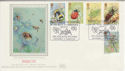 1985-03-12 Insects Stamps Meadow Bank Silk FDC (56029)