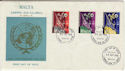 1970-09-30 Malta UNO 25th Anniv Stamps FDC (56227)