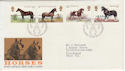 1978-07-05 Horses Stamps Peterborough FDC (56426)