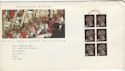 1990-03-20 6x20p Booklet Stamps Luton FDI (56569)