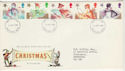 1985-11-19 Christmas Stamps FDC [Faded] (56577)