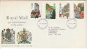 1985-07-30 Royal Mail 350th Stamps FDC [Faded] (56589)
