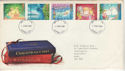 1987-11-17 Christmas Stamps FDC [Faded] (56614)