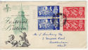 1951-05-03 KGVI Festival of Britain London cds FDC (56616)