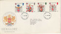 1984-01-17 Heraldry Stamps FDC [Faded] (56654)