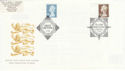 2000-04-11 �5 Definitive Doubled with 2003 �5 FDC (56670)