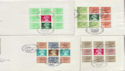 1980-95 x12 Definitive Booklet Panes FDC cv £95+ (56724)