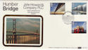 1983-05-25 Engineering Humber Bridge Hull Silk FDC (56827)