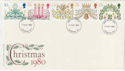 1980-11-19 Christmas Stamps London FDC (56950)
