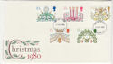 1980-11-19 Christmas Stamps London FDC (56953)