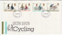 1978-08-02 Cycling Stamps London FDC (56977)