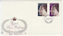 1972-11-20 Silver Wedding Stamps Enfield FDC (57010)