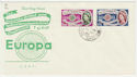 1960-09-19 Europa Stamps Chobham cds FDC (57090)