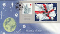 2002-05-21 World Cup Football M/S Englands Lane FDC (57302)