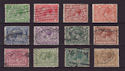 1924-26 KGV Block Cypher Set of 12 Used Stamps CV �60 (57333)
