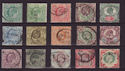 1902-10 KEVII Basic Set of 15 to 1s Used Stamps (57334)