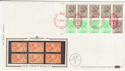1983-04-05 1.46p Booklet Stamps NPM London EC1 FDC (57401)