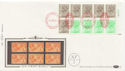 1983-04-05 1.46p Booklet Stamps NPM London EC1 Cyl FDC (57504)