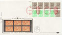 1983-04-05 1.46p Booklet Stamps NPM London EC1 Cyl FDC (57505)