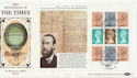 1985-01-08 The Times Full Pane London WC FDC (57514)