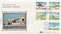 1985-03-19 Alderney Airport Stamps Silk FDC (57528)