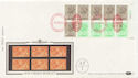 1983-04-05 1.46p Booklet Stamps NPM London EC1 Cyl FDC (57537)