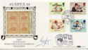 1984-09-25 British Council Ausipex Silk Signed FDC (57582)