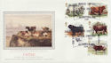 1984-03-06 British Cattle Stamps Ballynahinch FDC (57725)