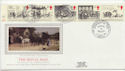 1984-07-31 Mailcoach Stamps Bristol Silk FDC (57730)
