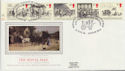 1984-07-31 Mailcoach Stamps London WC2 Silk FDC (57734)