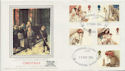 1984-11-20 Christmas Stamps Weybridge Silk FDC (57747)
