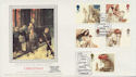 1984-11-20 Christmas Stamps Glastonbury Silk FDC (57751)