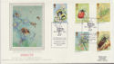 1985-03-12 Insect Stamps High Wycombe Silk FDC (57785)