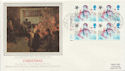 1985-11-19 Christmas Stamps Bklt Cyl Margin FDC (57847)