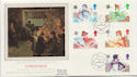 1985-11-19 Christmas Stamps Bureau Silk FDC (57853)