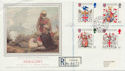 1984-01-17 Heraldry Stamps Tintagel Cornwall cds FDC (57898)