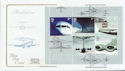 2002-05-02 Airliners Stamps M/S Heathrow FDC (58112)