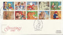 1994-02-01 Greetings Stamps Peter Rabbit Keswick FDC (58265)