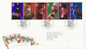 2001-09-04 Punch and Judy Blackpool FDC (58995)
