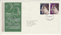 1972-11-20 Silver Wedding Stamps Manchester FDC (59157)
