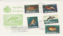 1966 San Marino Sealife Stamps FDC (59330)