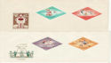 1964 Hungary Tokyo Games Stamps Unused on x4 Covers (59436)