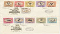 1960 Hungary Olympic Games Rome Stamps x2 FDC (59438)