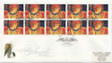 1998-11-02 Christmas Booklet Stamps Angel Bank FDC (59487)