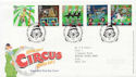 2002-04-09 Circus Stamps Clowne FDC (60007)